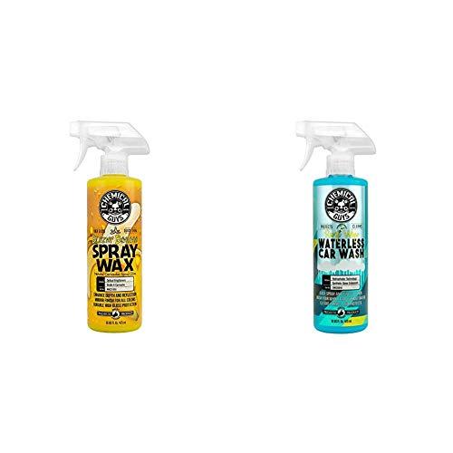 Chemical Guys Waterless Wash & Wax Bundle - Swift Wipe Waterless Car Wash and Blazin' Banana Spray Wax (2 16 oz Bottles)