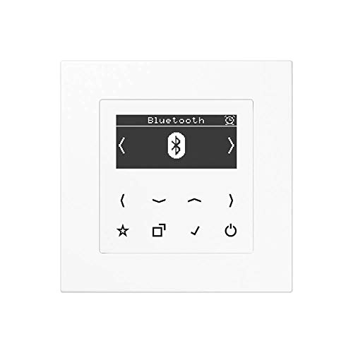 Jung Smart Radio DAB Bluetooth Komplett-Set Serie A Weiß mit 1-Fach Rahmen A5581BFWW