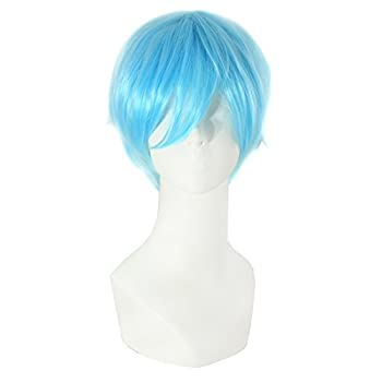 MapofBeauty 12 /30cm Role Playing Hair Cosplay Short Wig  Light Blue