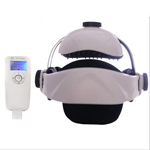 QXXNB Electric Head Neck Massager Multifunctional Massage Helmet with Soothing Music and Air Pressure To Relax and Relieve The Headache Brain Physiotherapy Massage Cap (USB Interface