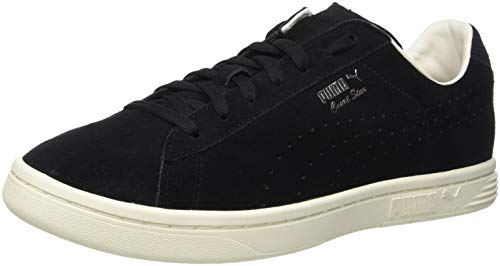 Puma Herren Court Star Suede Interest Sneaker, Schwarz Black-Whisper White 01, 38.5 EU