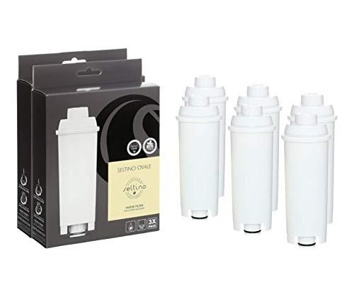 6x Seltino OVALE compatibele Delonghi SER3017 koffiezetapparaat waterfilter. Filterpatroon voor Delonghi SER3017 DLS C002 551329811. 2 x verpakking van 3 stuks. !