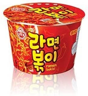 Ottogi Ramen Bokki Cup Noodle 4 Pack of 4.23oz Spicy Ramen Soup and Tteokbokki Flavor