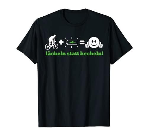 Elektro Fahrrad I E-biker überholt Fahrrad bergauf lächeln T-Shirt