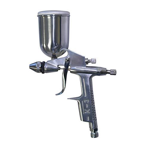 WilTec Pistolet à Peinture Professionnel HVLP HS-S2/K-3 0.5 mm/Buse de Projection Ronde/Filetage 1/4