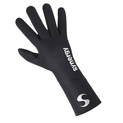 Synergy Neoprene Thermal Swim Gloves (Medium, Sports - Black)