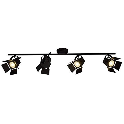 Brilliant Movie LED Spotrohr 4flg schwarz matt