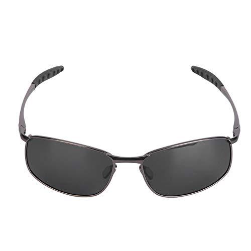 SALUTUYA Gafas de Sol TAC de Moda, con Caja de Almacenamiento(Gun Ash)
