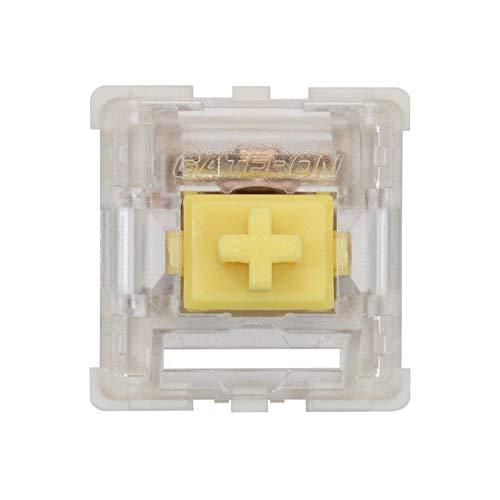 Gateron KS-9 RGB Mechanical MX Type Key Switch - Clear top (65 Pcs, Yellow)