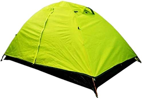 Lhak Portable outdoor tent Hiking camping tents and folded double wind (Color : Fruit green)