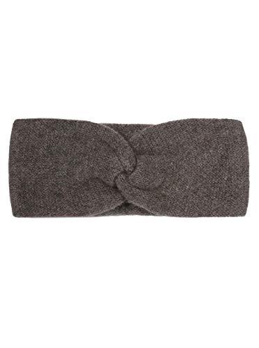 Zwillingsherz Stirnband aus 100% Kaschmir - Hochwertiges Grobstrick-Kopfband im Uni Design für Damen Frauen Mädchen - Wolle - Ohrenschutz - Haarband - warm und weich für Frühjahr Herbst und Winter bra