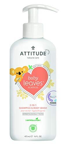 ATTITUDE Baby Leaves 2-in-1 Shampoo und Duschgel - Birnennektar (1 x 473 ml)