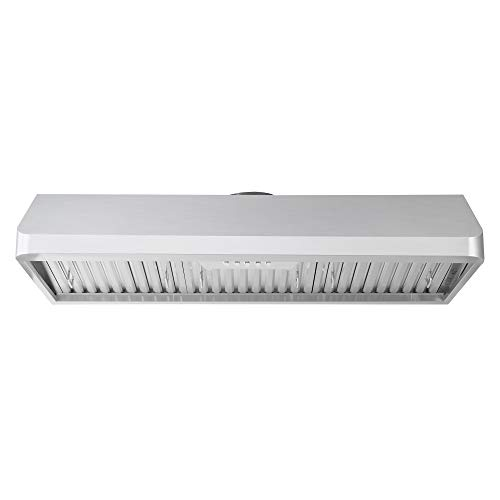 Cosmo COS-QB48 Under Cabinet 48 in. Range Hood | 500 CFM, Ducted/Ductless Convertible, Push Button,...