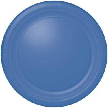 Dinner Size Paper Plates - Periwinkle (24 Count)