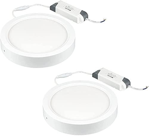 Popp- (PACK 2) Plafón LED Downlight Redondo 24W 6000K 1860 Lumen IP20...