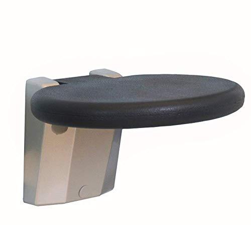 N/Z Daily Equipment Bathroom Folding Stool Apartment Shower Stool Elderly Shower Chair Safety Shower Chair Bathroom Stool (Round) (Size : 300 * 265 * 395mm)