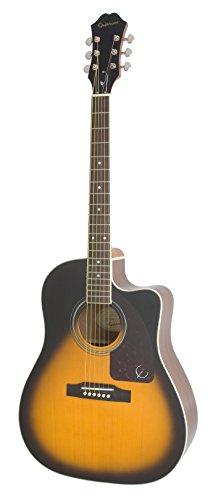 Epiphone AJ-220SCE - Guitarras electroacústicas, color vintage sunburst