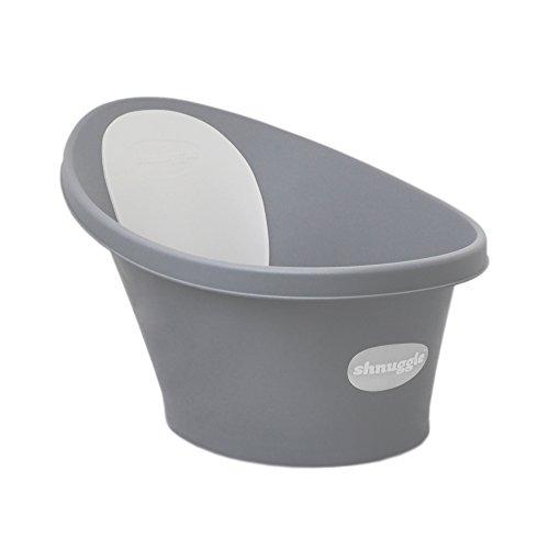 Shnuggle Vaschetta per bagnetto grigia con schienale bianco