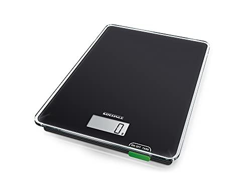 Soehnle Báscula para cocina Page Compact 100, báscula de cocina plana con 5 kg de capacidad, balanza digital con pantalla LCD y apagado automático