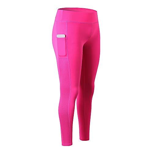 BEIXUNDIANZI Damen Sport Leggins Blickdicht Yoga Sporthose Streetwear Fitnesshose mit Taschen Yogahosen High Waist Stretch Workout Fitness Jogginghose