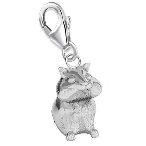 3d Hamster Charm Anhänger 925 Echt Silber Damen Mädchen Geschenkidee