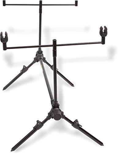 Zebco Rodpod Z-Carp-Soporte para caña de Pescar, Negro Mate, 80 cm