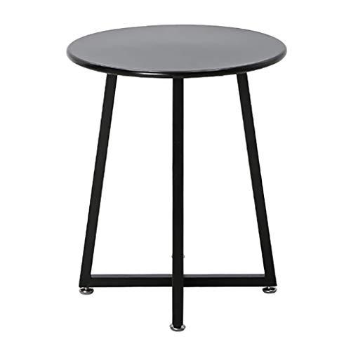 SH-tables Mesa De Centro, Estilo De La Esquina Redonda De Sofá Cama Redondo/Mesa Auxiliar De Hierro, para La Mesa De Noche Mini Dormitorio ( 40.5x48cm) (Color : B)