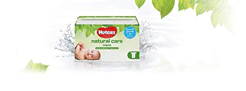 HUGGIES Natural Care Unscented Baby Wipes, Sensitive, 3 Refill Packs...