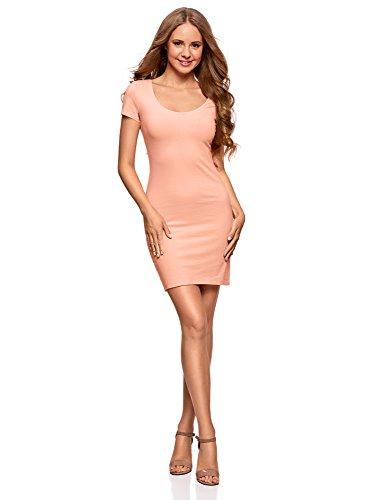 oodji Ultra Damen Baumwoll-Kleid (3er-Pack), Rosa, DE 40 / EU 42 / L