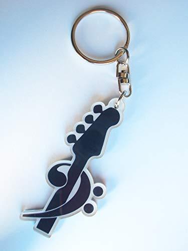 Schlüsselanhänger Fa Schlüssel auf Bassgitarre