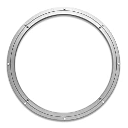 circular silver lazy Susan mechanism