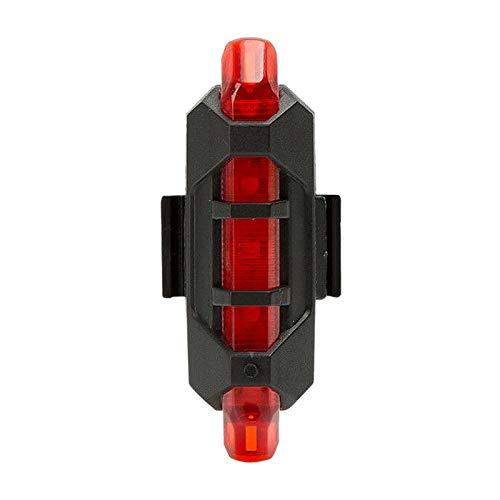 censhaorme Cola 2LED Bicicleta roja de energ/ía Solar Recargable de luz Trasera roja luz de Flash