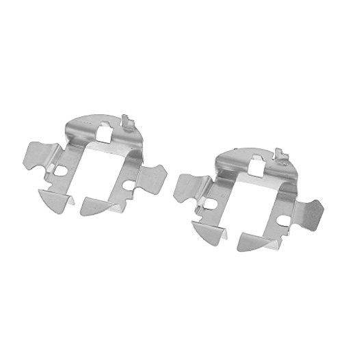 MagiDeal 2pcs Voiture HID Xénon H7 Ampoules Adaptateur Porte-clips de Retenue Base Métallique Pour Audi