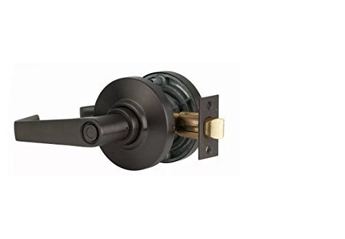 S. Parker Grade 2 ADA Approved SL Heavy Duty Non-Handed Commercial Cylindrical Privacy Lever Lock for Bed Or Bath Metal Or Wood Doors (Oil Rubbed Bronze)