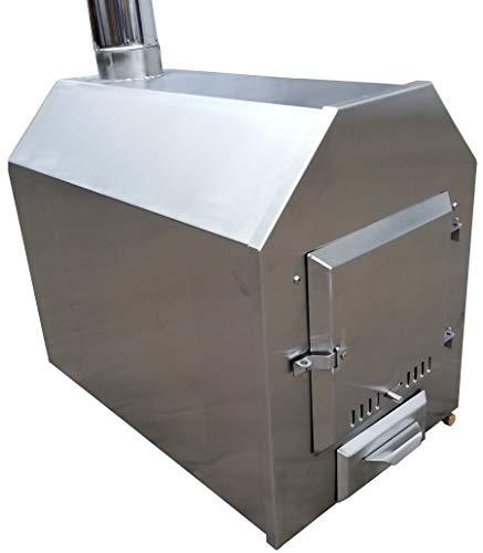 Poolofen/Poolheizung/Ofen für Badetonnen/Badefässer 38 KW - mit Holz befeuert Edelstahl NEU