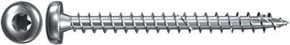 Premium Spanplattenschrauben mit Senkkopf und Teilgewinde zur Befestigung von tragenden Bauteilen in Holz nicht rostender Stahl 25 St/ück fischer Power-Fast FPF-SZ 5,0 x 60 A2P 25 B