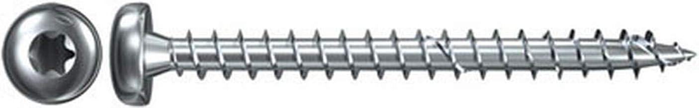 Fischer 653501 Power-Fast Bo/îte de 200 Vis /à t/ête frais/ée TG TX 4 x 35 mm galvanis/ée Jaune