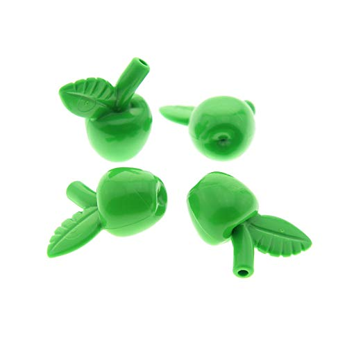 4 x Lego System Frucht Apfel bright hell grün Obst Pflanze Figuren Zubehör 79003 41059 7189 41078 33051