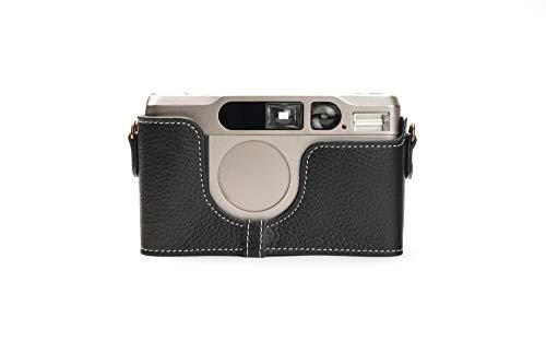 Zakao Kameratasche für Contax T3, handgefertigt, Echtleder, Halbkameratasche für CONTAX T3, mit Handschlaufe