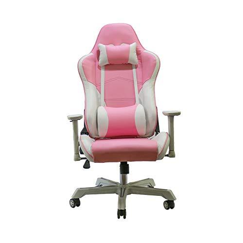 XuZeLii Gaming Chair Metallrahmen PC-Gaming-Stuhl Hohe Rückenlehne Bürostuhl Renn PU-Leder Drehstuhl Bequeme Sitzposition Zu Fördern Geeignet zum Fernsehen (Color : Picture Color, Size : 70X70X125CM)