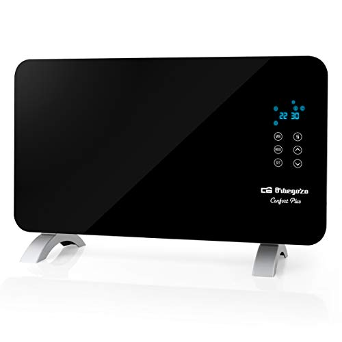 Orbegozo REH 1060 Digitales Heizstrahler, 1000 Watt, LED-Digitalanzeige, programmierbar, geräuscharm, IP 24