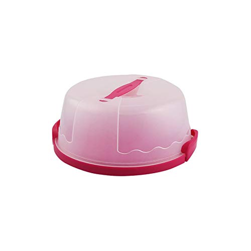 Cake Carrier, Plastic Cupcake Containers Holds Up to 10 Inch with Handle Two Sided Base for Transporting Cakes, Cupcakes, Cookies, Pies, or Other Desserts