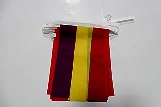 AZ FLAG Guirnalda 6 Metros 20 Banderas ESPAÑA Republicana SIN Escudo 21x15cm - Bandera DE LA Republica ESPAÑOLA 15 x 21 cm...