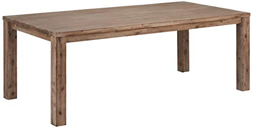 Ibbe Design Rechteckig Ausziehbar Esstisch 200x100 Natur Massiv Akazie Holz Esszimmer Tisch Alaska, L200x B100x H75 cm
