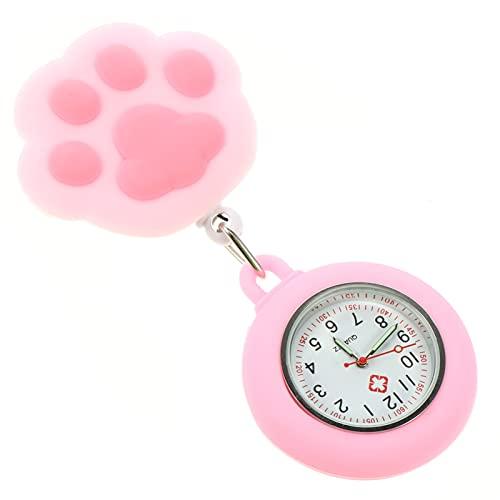 Hemobllo Enfermeira Relógios- Relógio De Enfermagem Prática Da Pata Do Gato Relógio de Bolso Projetado