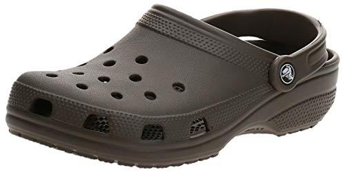 Crocs Classic Zuecos con Correa Trasera Unisex Adulto Chocolate 42-43