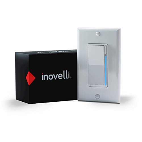 Inovelli Z-Wave Dimmer Switch (Black Series)   No Neutral ZWave Switch   Repeater, 3-Way Smart Switch Technology, Signal Indicator   Z-Wave Plus w/S2 SmartStart