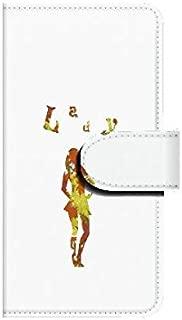 Xperia ZL2(SOL25) Lady ポーズA 【鏡付き】 手帳型スマホケース ql552-o0510_am ミラー付き