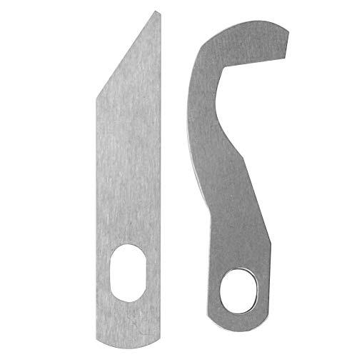 Sheens Nähmaschinen-Overlockmesser, Serger-Overlock-Obermesser XB0563001 Untermesser X77683001 für Brother 929D 1034D 1134D