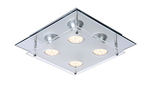 Lucide READY-LED - Plafonnier - LED - GU10 - 4x3W 3000K - Chrome